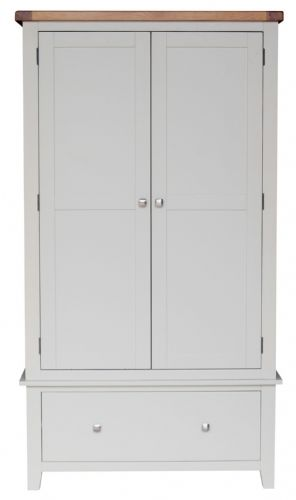 Malvern Grey Gents Double Wardrobe